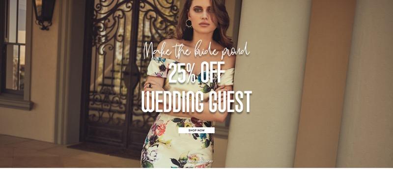 Little Mistress Little Mistress: 25% off wedding guest dresses