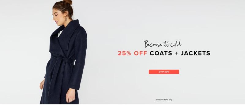 Little Mistress Little Mistress: 25% off coats & jackets