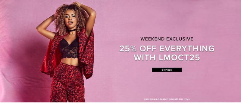 Little Mistress Little Mistress: 25% off women's clothing
