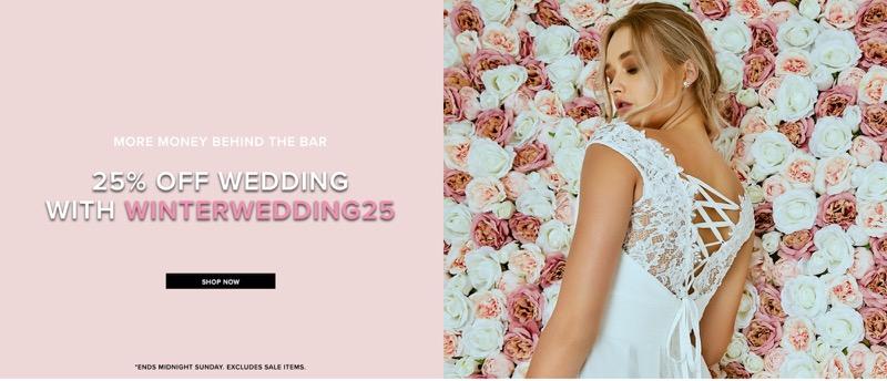 Little Mistress: 25% off wedding fashion