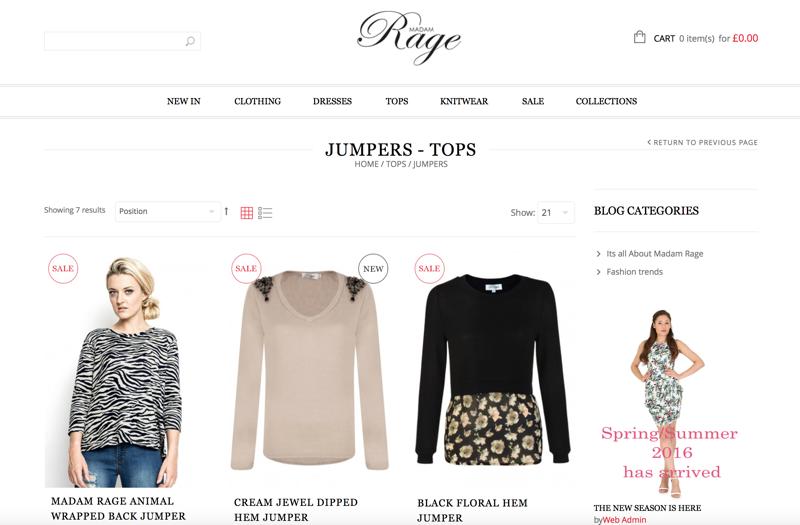 Madam Rage: Sale up to 70% off ladies clothing