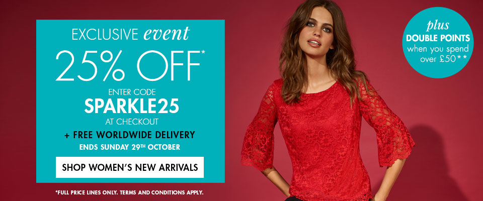 M&Co M&Co: 25% off womens, mens and kids clothing