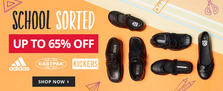 MandM Direct MandM Direct: Sale up to 65% off school sorted shoes from brands like adidas, eastpak, kickers