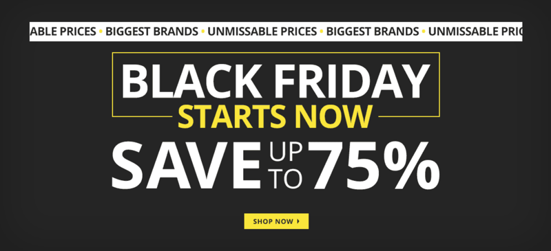 MandM Direct: Black Friday up to 75% off clothing, shoes and accessories