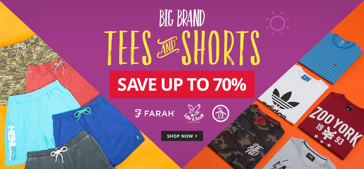 MandM Direct M and M Direct: Sale up to 70% off tees and shorts