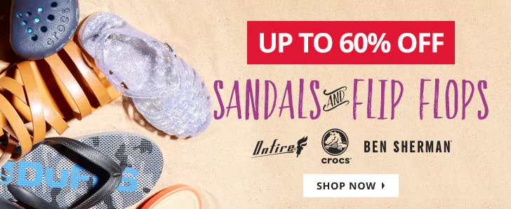 MandM Direct: Sale up to 60% off sandals and flip flops