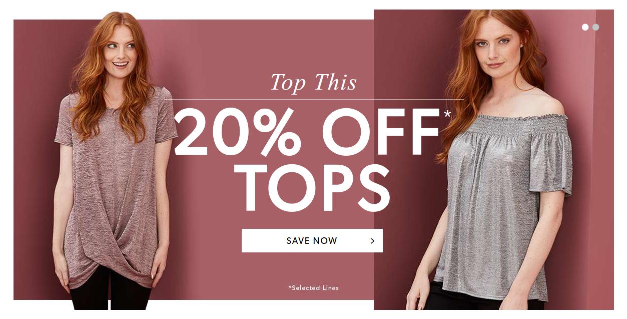 Marisota: 20% off tops