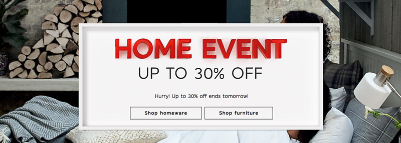 Marks & Spencer: up to 30% off homeware and furniture