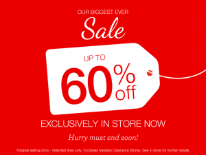 Matalan: sale up to 60% off