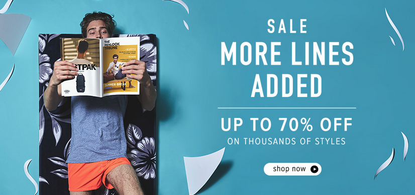 Menlook: Sale up to 70% off on thousands styles
