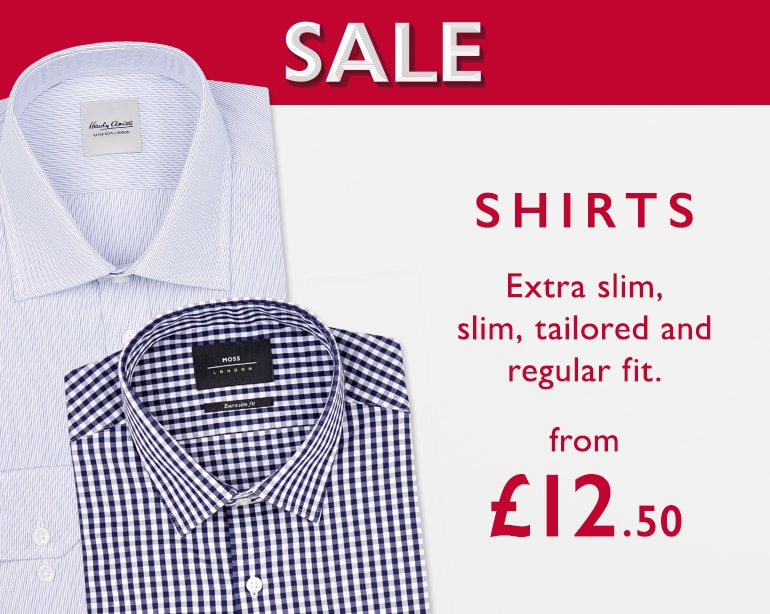 Moss Bros Moss Bros: shirts from £12.50