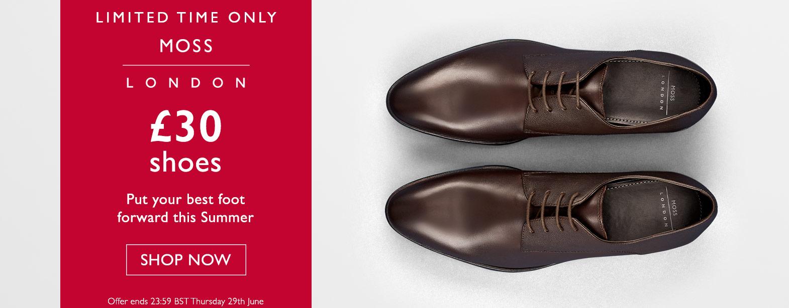 Moss Bros Moss Bros: men's shoes for £30