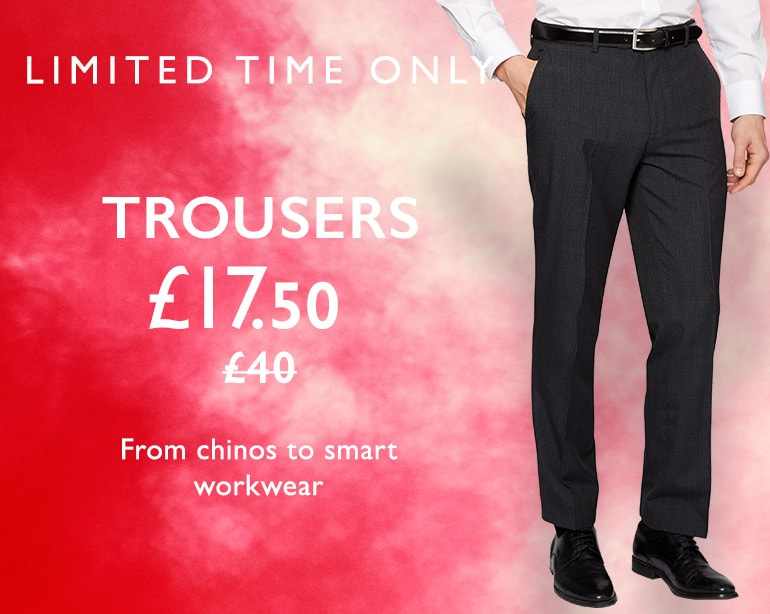 Moss Bros Moss Bros: trousers from chinos to smart workwear for £17,5
