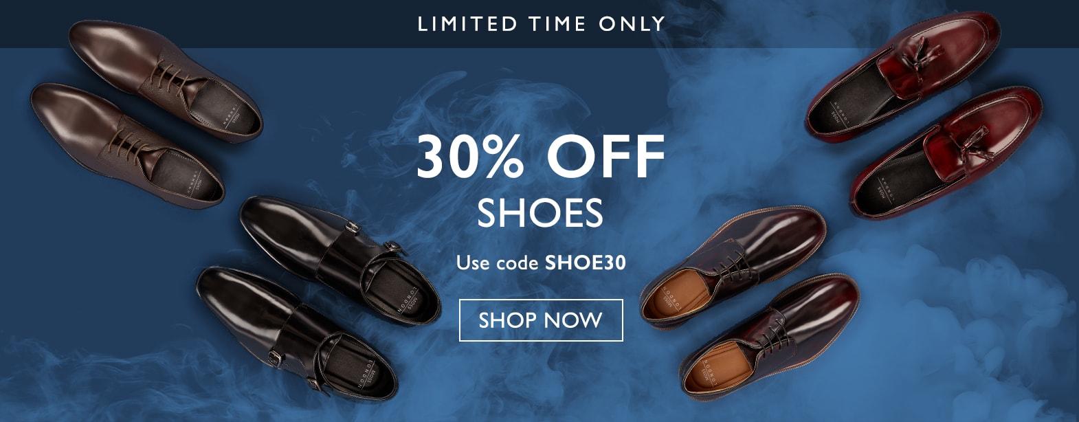 Moss Bros Moss Bros: 30% off shoes