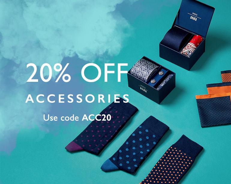 Moss Bros Moss Bros: 20% off accessories