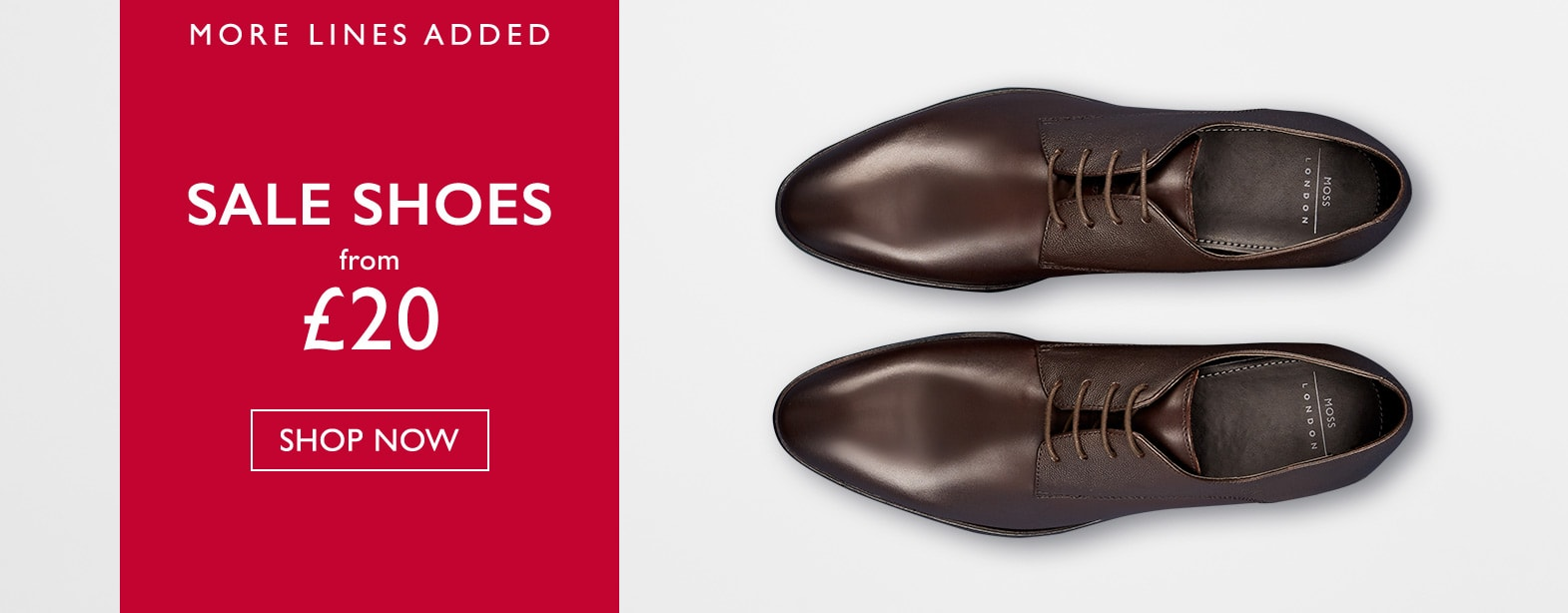 Moss Bros Moss Bros: shoes from £20