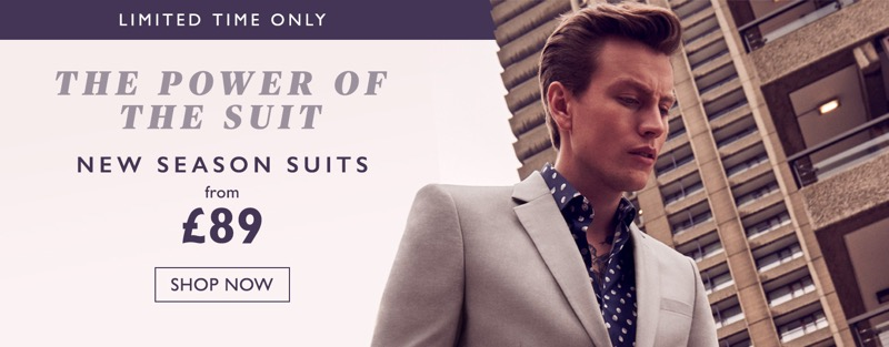 Moss Bros Moss Bros: new season suits from £89