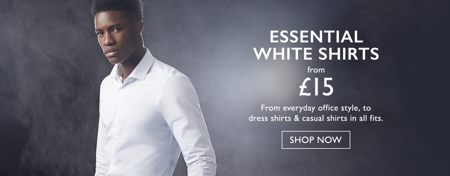Moss Bros Moss Bros: essential white shirts from £15