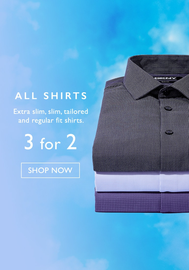Moss Bros Moss Bros: 3 shirts in the price of 2