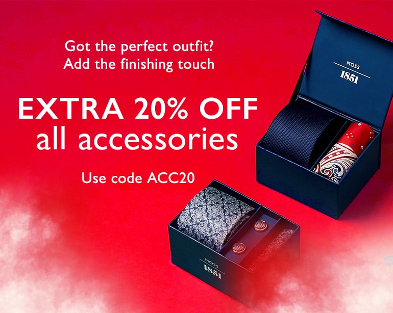 Moss Bros Moss Bros: extra 20% off all accessories