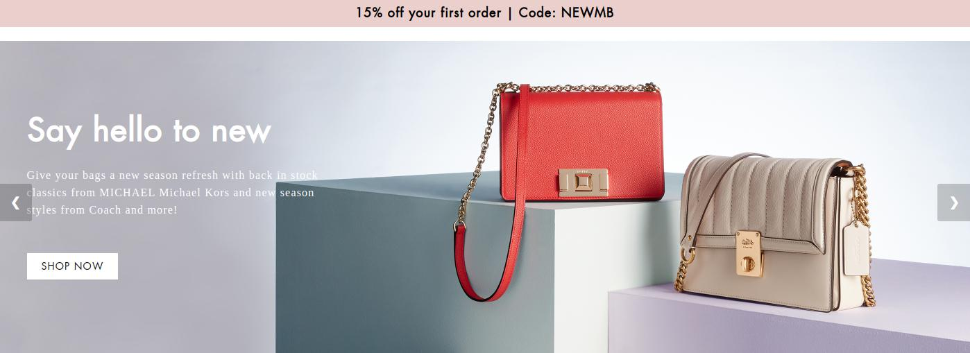 Mybag: 15% off bags and accessories