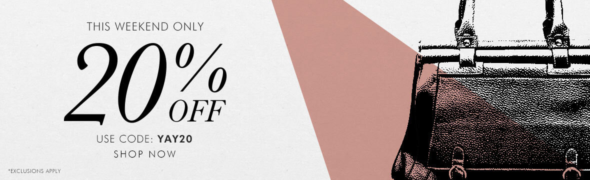Mybag: Bank Holiday promotion 20% off bags and accessories