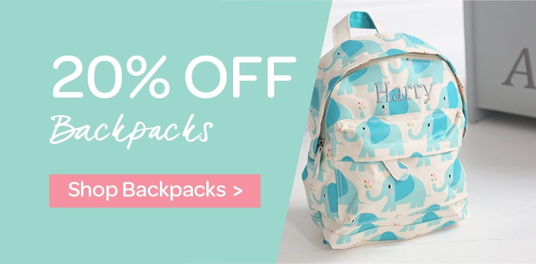 My 1st Years: 20% off backpacks