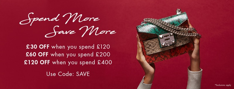 Mybag: £30, £60, £120 off when you spend £120, £200, £400