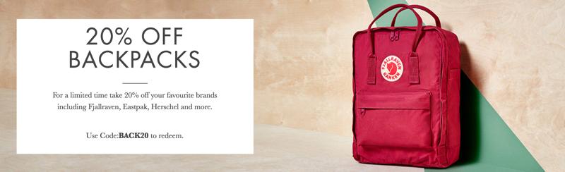 Mybag: 20% off backpacks