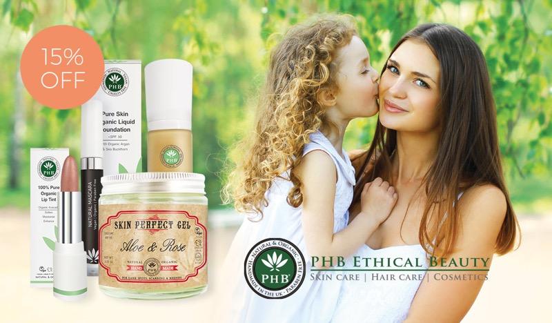 Natural Collection Natural Collection: 15% off PHB natural & organic cosmetics