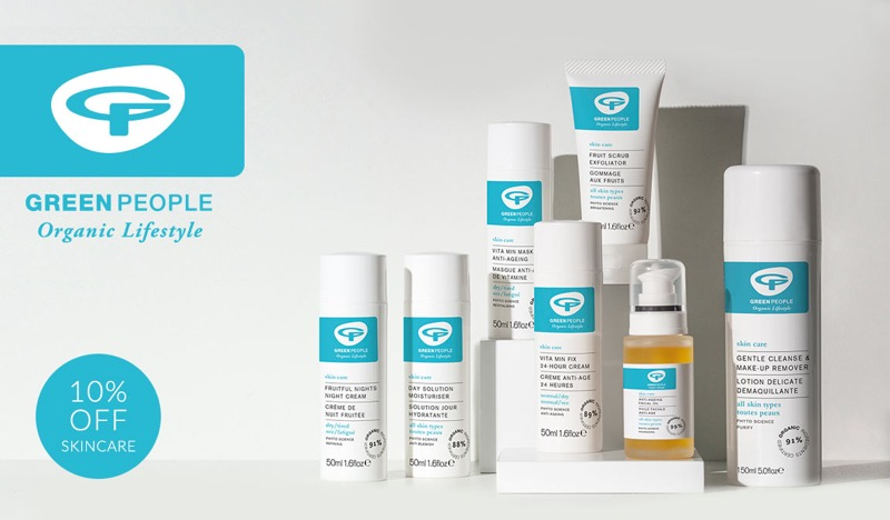 Natural Collection: 10% off skincare by Green People