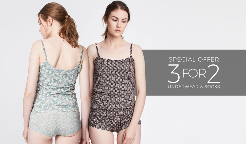 Natural Collection: 3 for 2 off underwear & socks