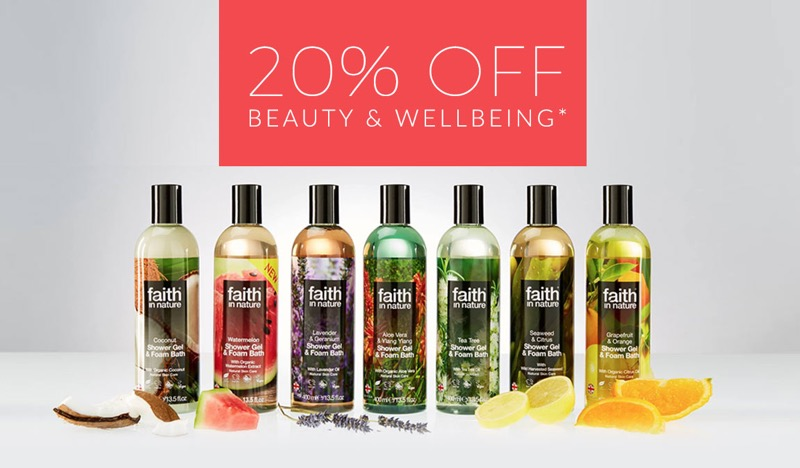 Natural Collection: 20% off beauty & wellbeing products