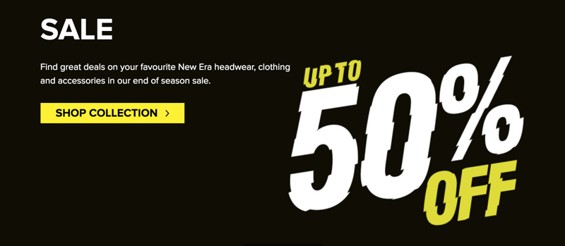 New Era Cap: Sale up to 50% off headwear and accessories