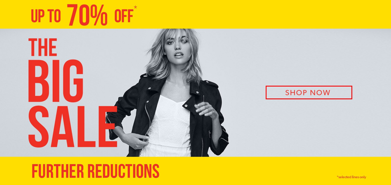 New Look: Big Sale up to 70% off womenswear and menswear