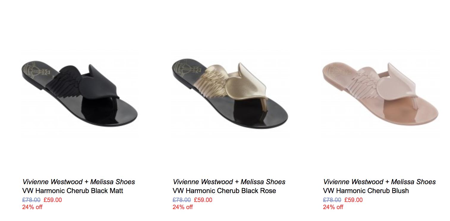 NONNON NONNON: Sale up to 75% off Melissa shoes