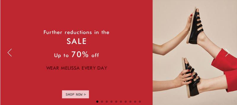 Newfrog Newfrog: Sale up to 70% off Melissa shoes
