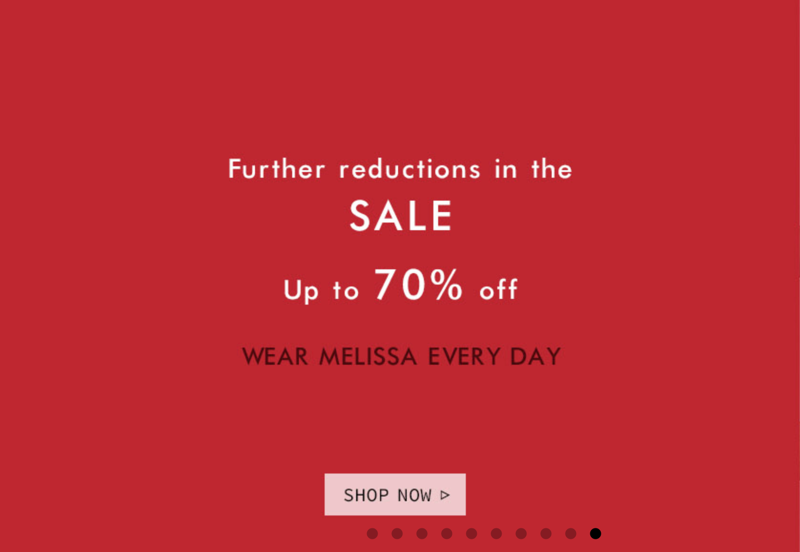 NONNON NONNON: Sale up to 70% off Mellisa shoes