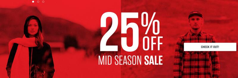 O'Neill: 25% off Mid Season Sale