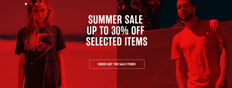 O'Neill: Summer Sale up to 30% off selected women's and men's items