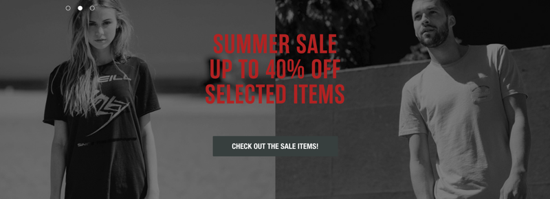 O'Neill: Summer Sale up to 40% off clothing and accessories