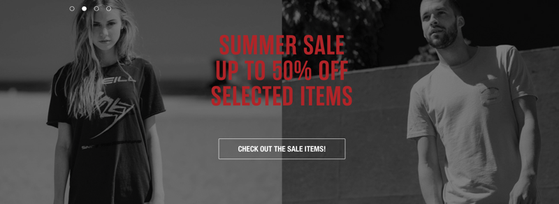O'Neill: Sale up to 50% off clothes and accessories for women's and men's