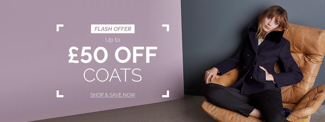 Precis: up to 50% off coats