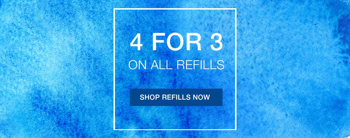 Pen Shop Pen Shop: 4 for 3 off on all refills
