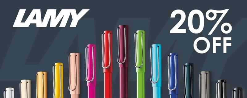 Pen Shop: 20% off Lamy pens & refills