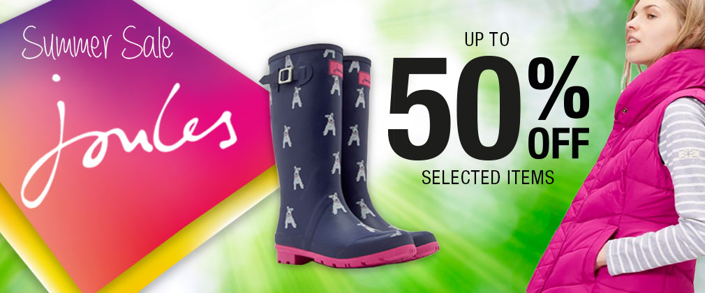 Pet and Country: Summer Sale up to 50% off joules items