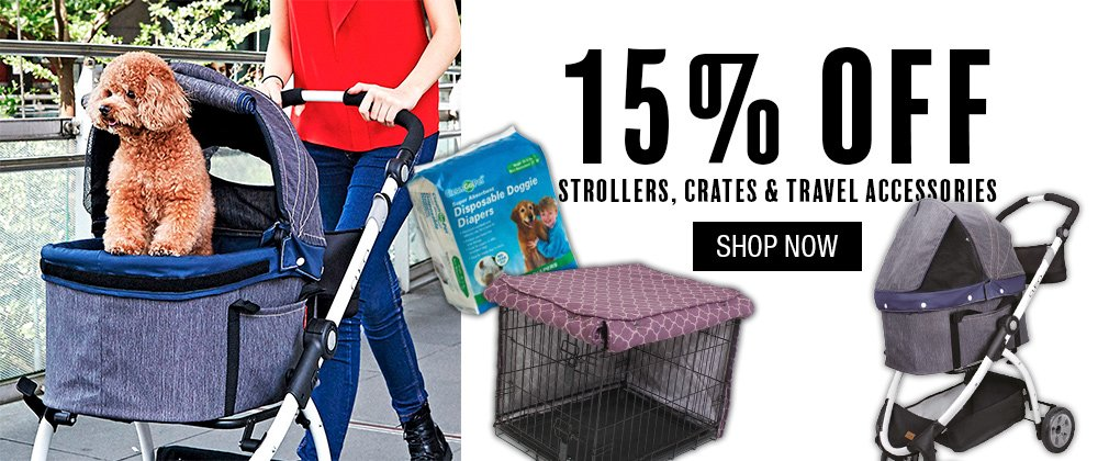 Pet and Country: 15% off strollers, crates & travel accessories