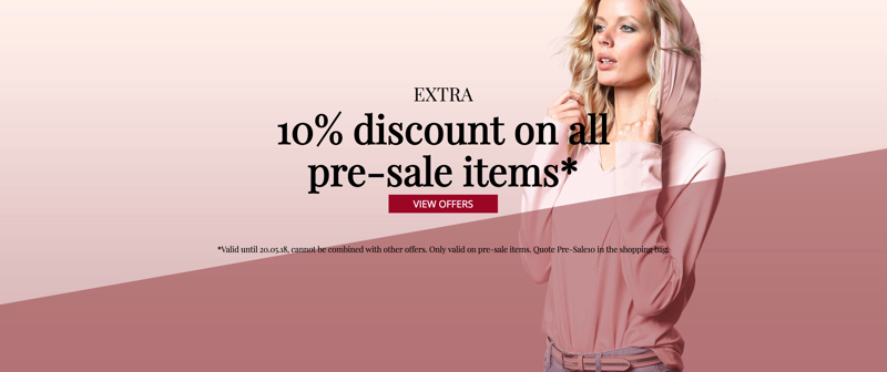 Peter Hahn: 10% off on all pre-sale items