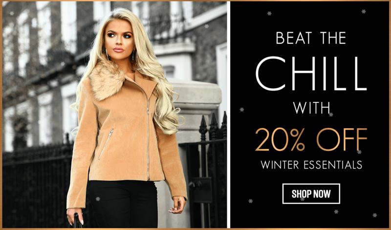 Pink Boutique: 20% off winter essentials