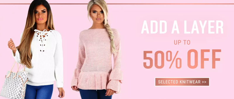 Pink Boutique Pink Boutique: up to 50% off women's knitwear